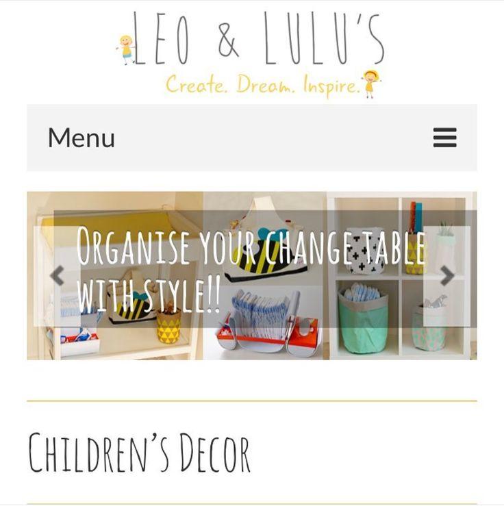 Pick up the the cutest #children's #decor right from your phone! Check out Leo and Lulu's #online #store! www.leoandlulus.com.au #follow @leoandlulus #leoandlulus #onlinestore #website #mobile #responsive #web #site #designed in #wonthaggi #basscoast #webdesign #designer #gippsland #logo #design #decor #homewares #children #social #promotion #digital #marketing #graphic #media #advertising