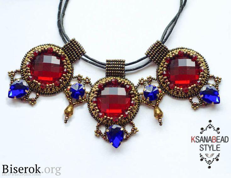Мастер-класс «Ожерелье со стразами»