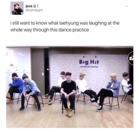 He said Namjoon and Jungkook were making ugly faces and he couldn't control his laughter.