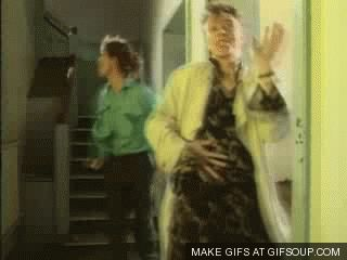 80s dancing david bowie icons kings mick jagger dancing in the street #gif from #giphy