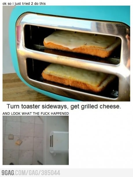 Grilled Cheese Toaster....fail. - OMG... SO FUNNY!!!!