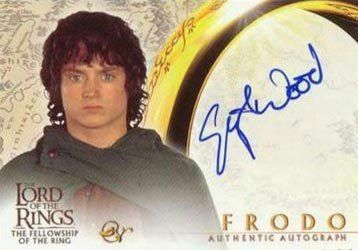 Lord of the Rings: Fellowship of the Ring Autographs Elijah Wood