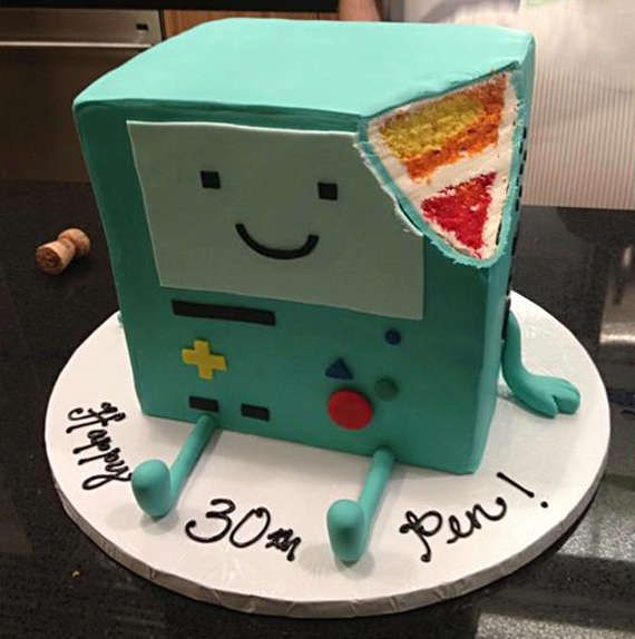 Multi-Colored Cartoon Desserts