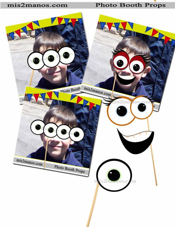 Monster Photo Booth Props  SET of 10 Monster Birthday Photobooth Props