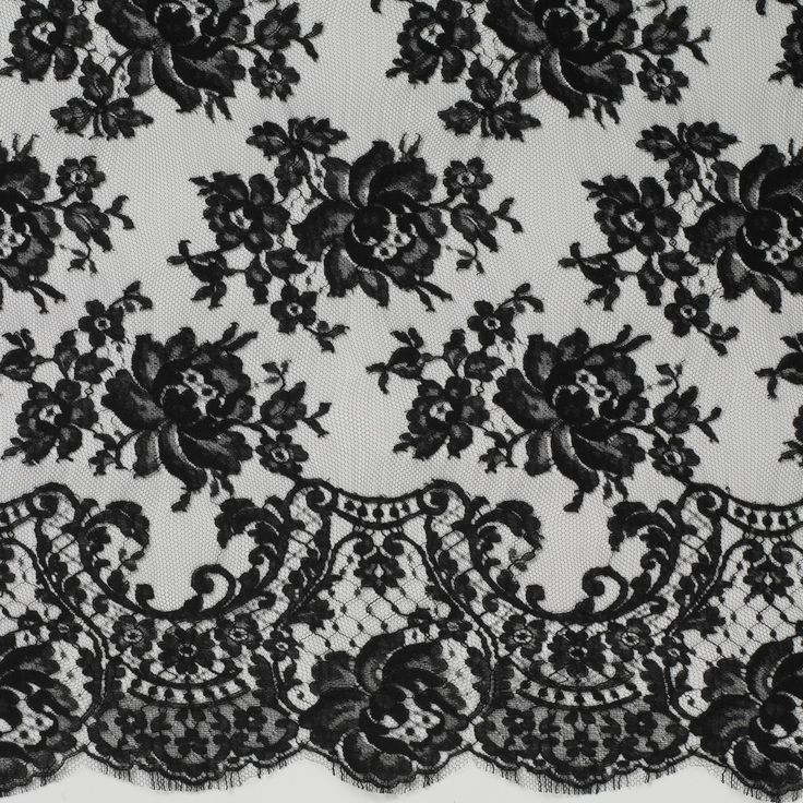 Lace, Black lace fabric and Silk curtains on Pinterest