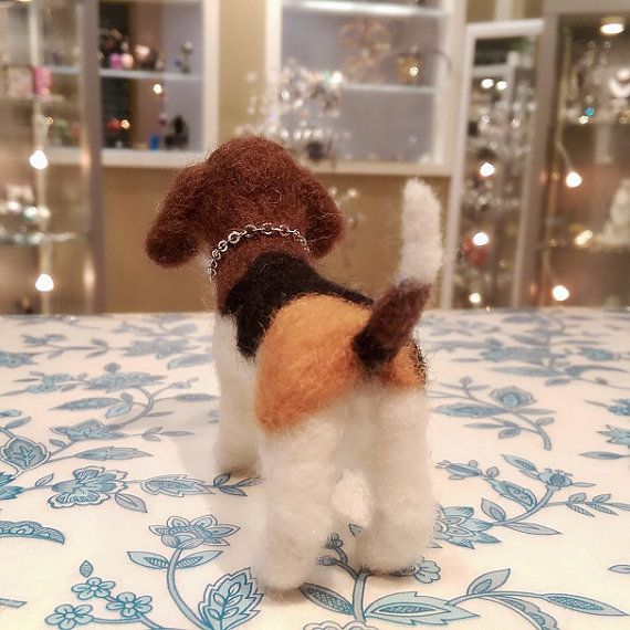Needle Felted Beagle Puppy Miniature Beagle by DesignedbyAbble