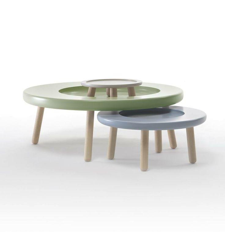 """""""Gildo"""" Coffee Table  Tavolino da caffè che nello spessore del suo piano contiene altri due elementi che possono diventare alternativamente vassoio, portafrutta, portavaso, tavolino basso, sgabello e sidetable. Geniale creazione di Alpestudio! #DesignFor #design #furniture #table"""