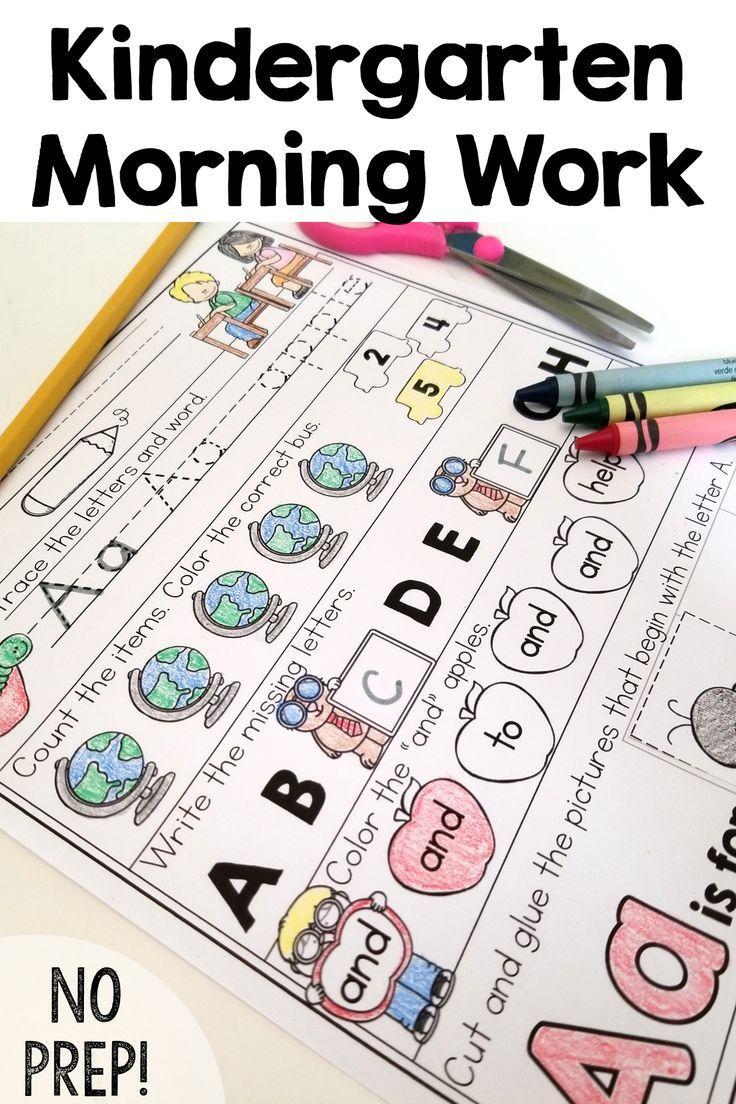 Back to School Morning Work {Kindergarten}   Homeschool pre