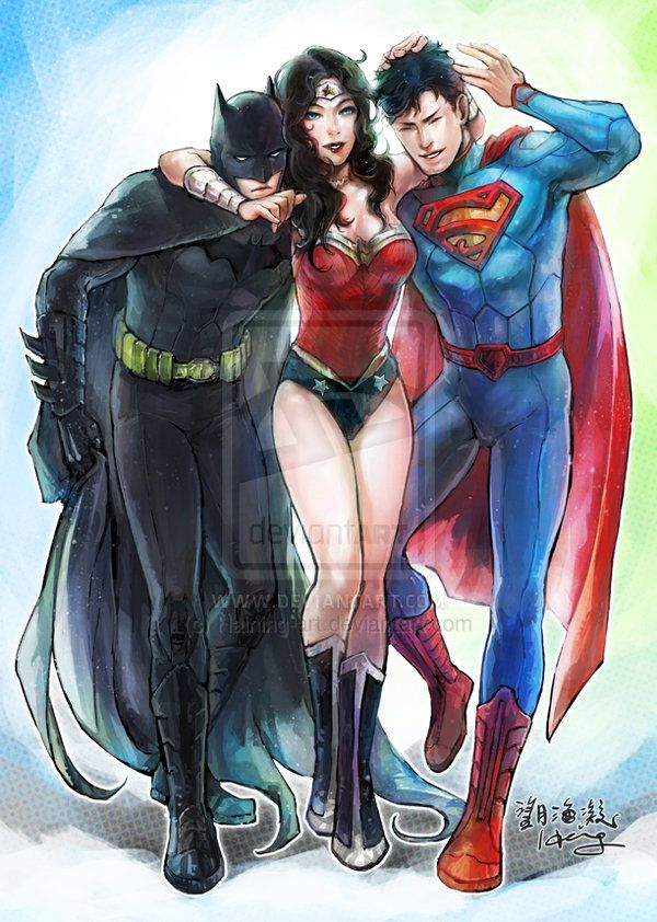 """Look at Batman he's like, """"Why is she hugging me? I am the night. I am Batman, not your teddy bear."""""""