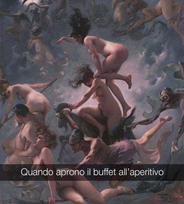 Se i quadri potessero parlare Le streghe al sabba - Luis Ricardo Falero