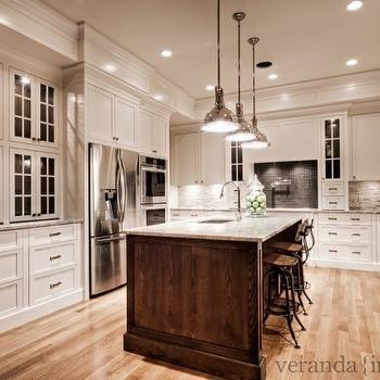 River White Granite Countertops, Transitional, kitchen, Benjamin Moore White Dove, Veranda Interiors