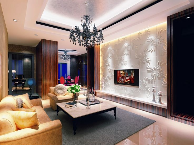 """A beautiful """"Jonas"""" feature wall to provide a background for the television."""