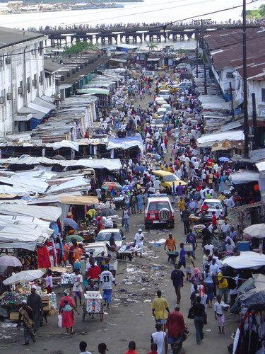 Monrovia, Liberia - waterside market