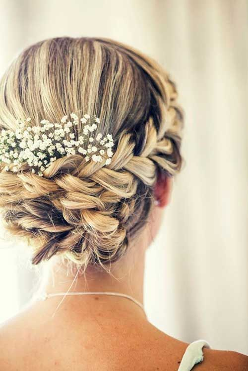 Beautiful Wedding Updo with A Braid-1