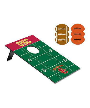 Take a look at this USC Football Beanbag Throw Game by Picnic Time on #zulily today!