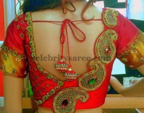 Saree Blouses with Floral Work | Saree Blouse Patterns