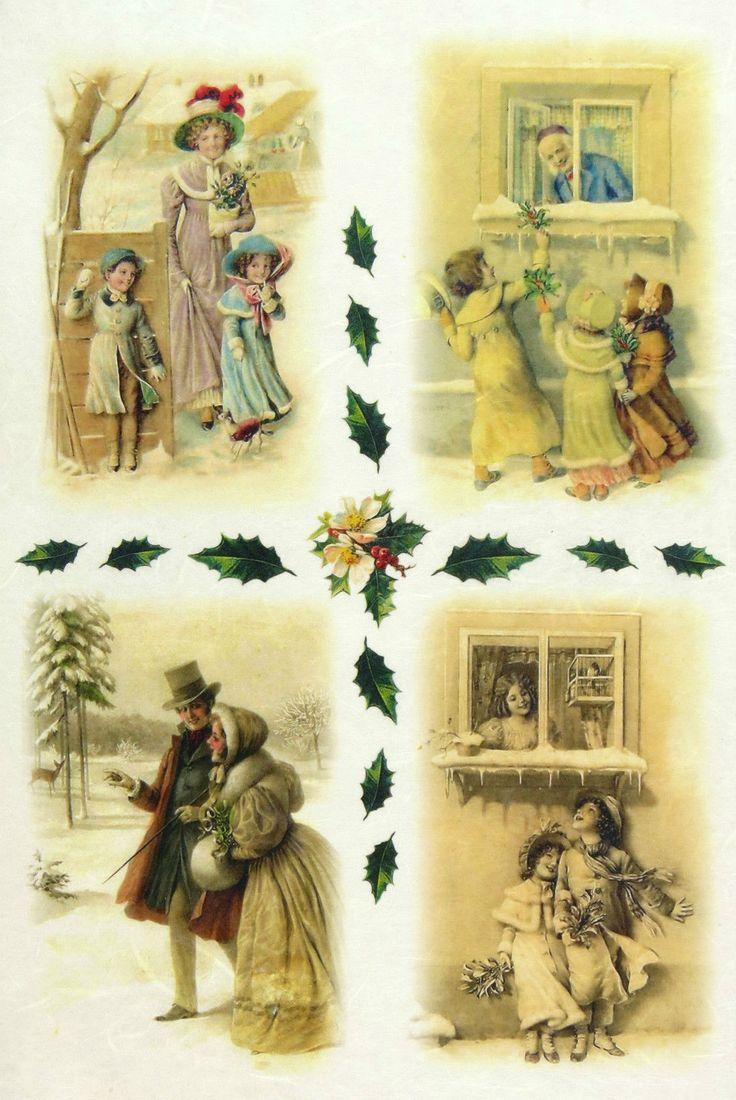Ricepaper / Decoupage paper, Scrapbooking Sheets Winter Time in Crafts, Cardmaking & Scrapbooking, Decoupage | eBay