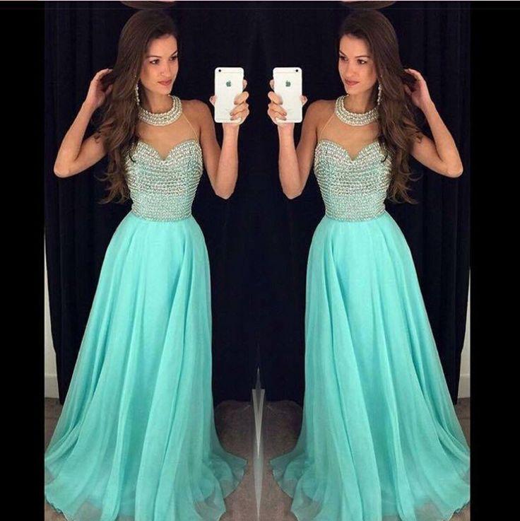 Prom Dress, Blue Dress, A Line Dress, Long Dress, Evening Dress, Chiffon Dress, High Neck Dress, Blue Prom Dress, Long Chiffon Dress, Long Prom Dress, Long Blue Dress, Dress Prom, Dress For Prom, Blue Chiffon Dress, Junior Dress, Hot Dress, Blue Long Dress, Dress Blue, Custom Dress, Dress For Teens, High Neck Prom Dress, A Dress