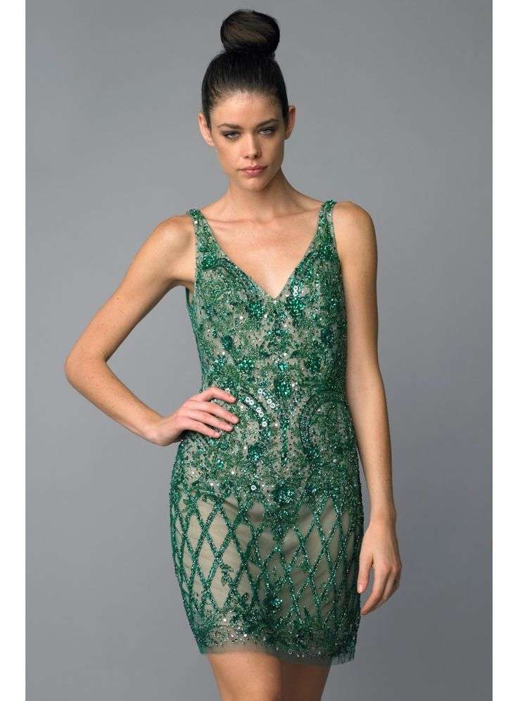 15 best Green Cocktail Dress images on Pinterest | Green cocktails ...