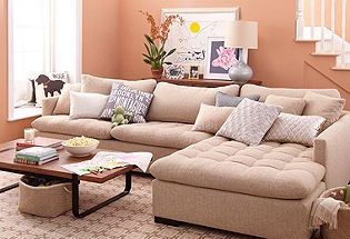 If I had this, I would probably never leave it.  Comfy looking.  Bring on the book and a glass of wine.: Wall Colors, Soo Comfy, Living Rooms, Paintings Colors, Comfy Couch, Leather Company, Elites Leather, Pink Wall, Families Rooms