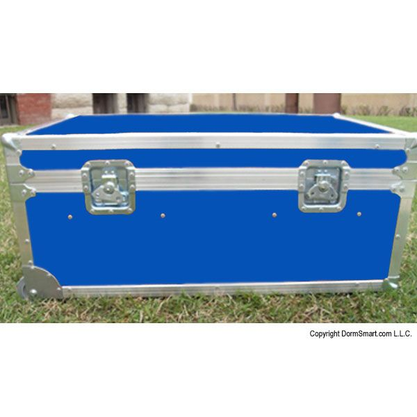 Safari Medium Blue Large ATA College Footlocker with Recessed Wheels and Tray | FREE SHIPPING