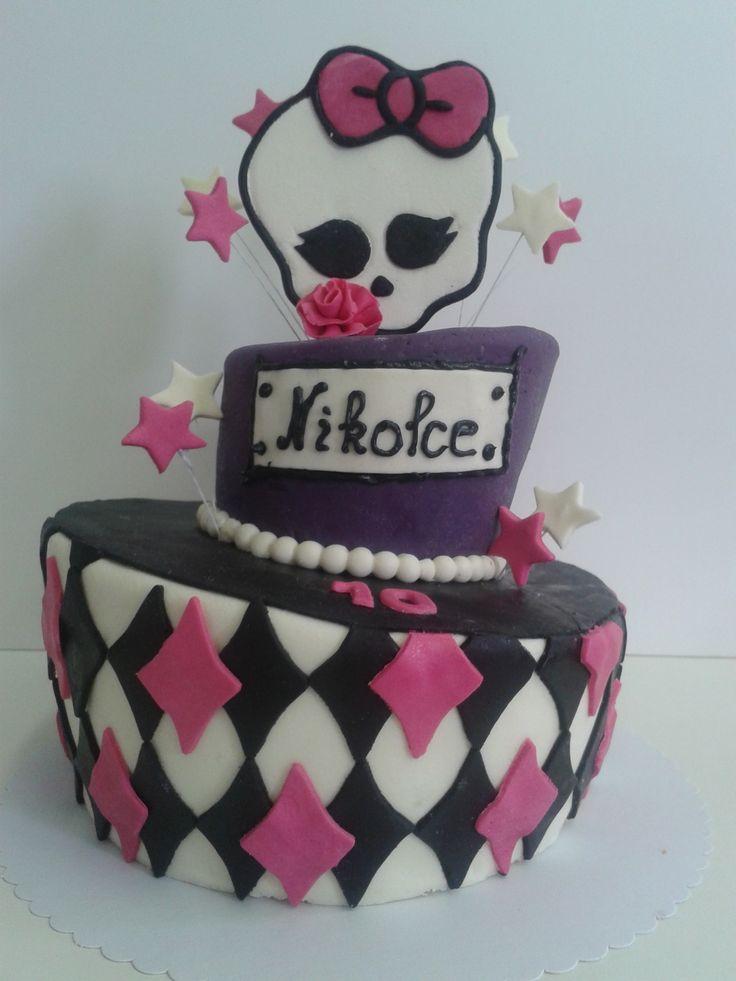 Dort s motivem Monster High. Dort je možné vyrobit v různých velikostech a přizpůsobit se tak vašim požadavkům. Nejmenší velikost je od 3kg. Náplň dle přání zákazníka, seznam náplní naleznete v záložce Cukrárna. Nápis a číslovka na dort je samozřejmostí.