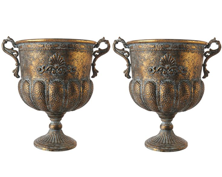 Kruka GULD Pokal 43 cm 2-set