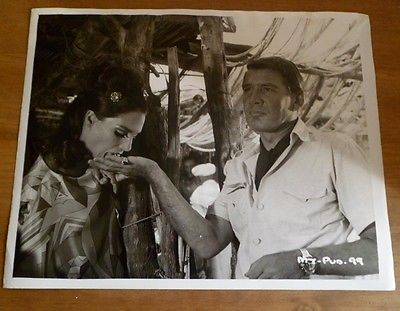 GENE BARRY VINTAGE FILM PRESS PHOTOGRAPH 'MAROC 7' TRACY REED 1960s Morocco