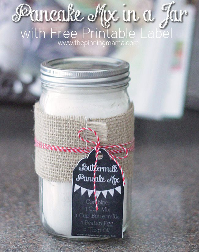 Pancake Mix in a Jar - A gift that is equally EASY and THOUGHTFUL!