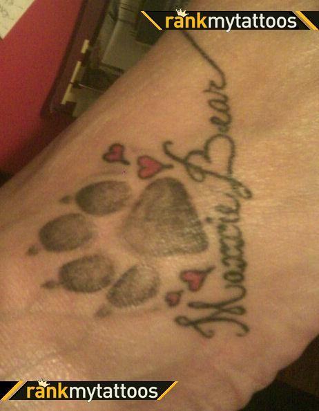 dog paw tattoo - Google Search