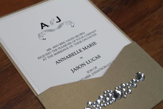Glamorous Wedding Invitation Clustered Crystal by decadentdesigns, $6.00