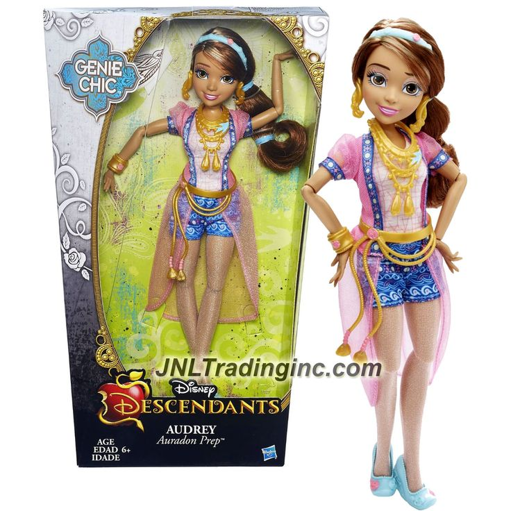 """Hasbro Disney Descendants Genie Chic Series 12"""" Doll -Auradon Prep AUDREY with Earrings and Choker Necklace"""