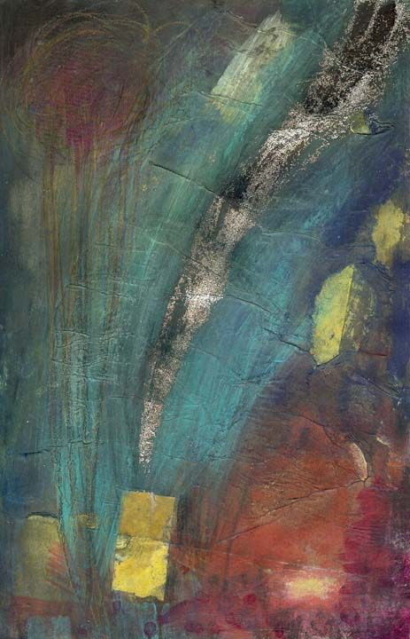 September 9 - collage, acrylic, pastel and glitter  www,susan-mitchell.com