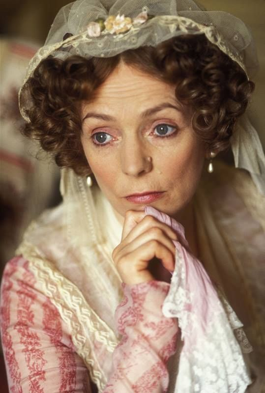 "The lovely Mrs. Bennet (1995) ""you have a sweet room here!"" Most sensible thing to come out of her mouth, then she spoils it all in the next line."