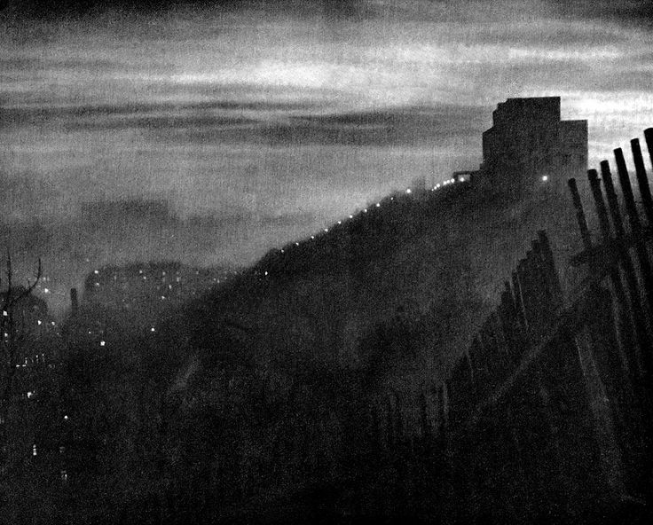 LOST AND FOUND IN PRAGUE | Night Prague: Vitkov hill by J.Illik, 50's
