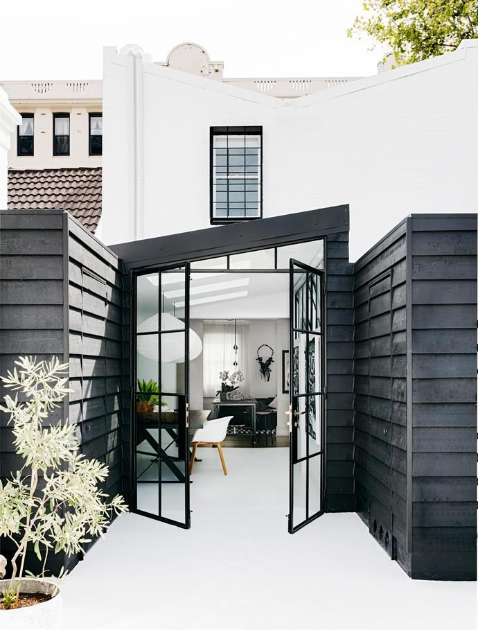Black steel frame doors. | Photo: Felix Forest | Story: Belle