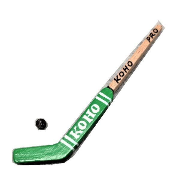 Dollhouse Miniature 1:12 Scale Hockey Stick and Puck
