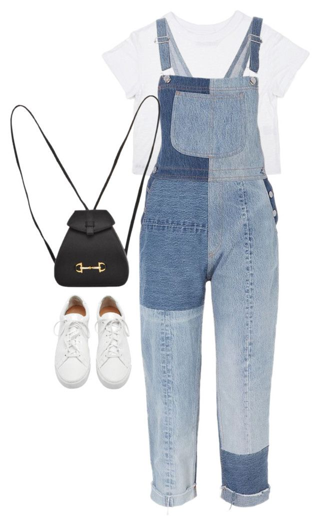 """Sem título #5094"" by fashionnfacts ❤ liked on Polyvore featuring RE/DONE, Loeffler Randall and Gucci"