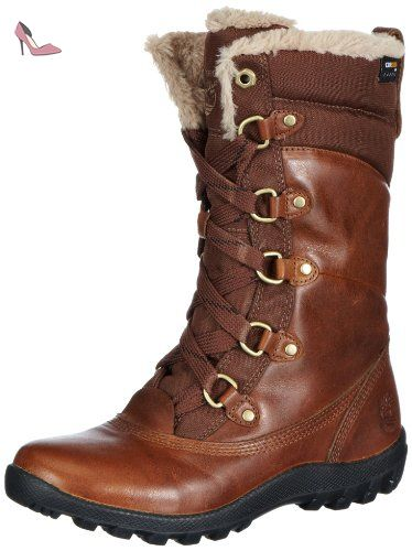 Timberland Ek Mount Hope Leather and Fabric Waterproof, Bottes de neige femme - Marron (Dark Brown), 40 EU (7 UK) (9 US) - Chaussures timberland (*Partner-Link)