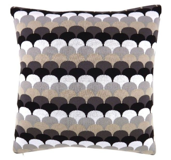 Shell Knit 50x50cm Filled Cushion Black | Manchester Warehouse