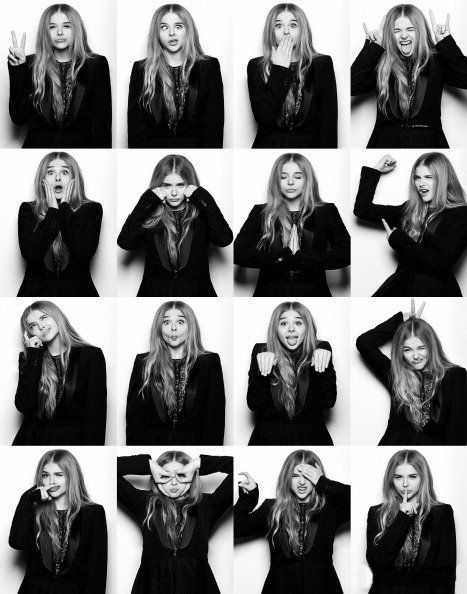 Chloe Moretz doing some cool and funny faces and poses.