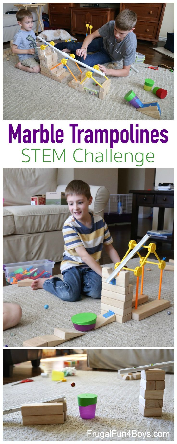 Marble Trampolines!  A Fun Engineering Challenge for Kids