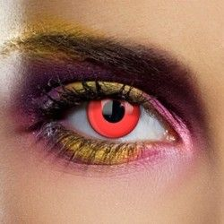 Red Blood Halloween Coloured Contact Lenses (Daily)