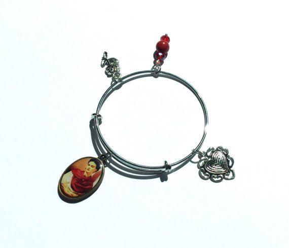 Frida Kahlo charm bangle/bracelet