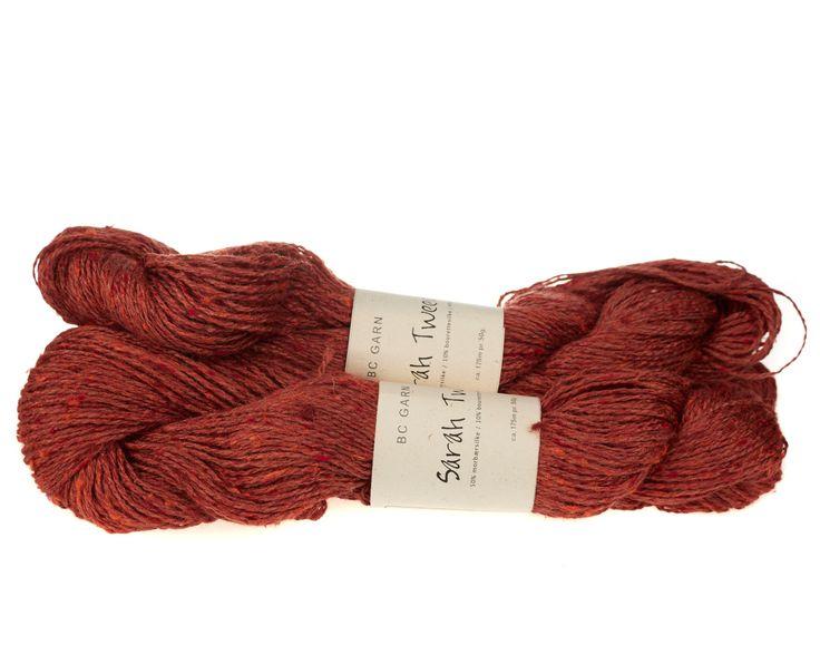 Sarah Tweed lækkert uld / silkegarn - Mørk Orange - 59 kr. per fed á 50 gram
