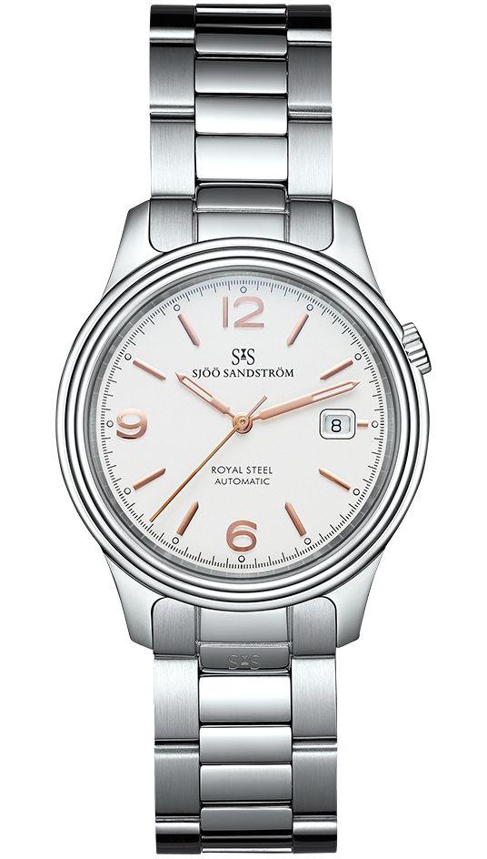 Royal Steel Classic 41 mm, ivory rose gold dial with steel bracelet. #sjöösandström #sjoosandstrom #watch #watches #sweden #classic