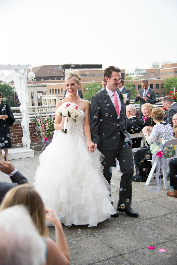 outdoor wedding venues minneapolis%0A Outdoor Terrace Wedding venue with trellis archway and bubbles