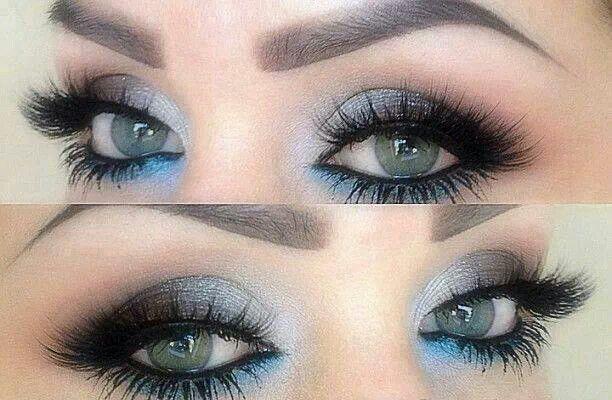 Silver blue grey eyeshadow | War Paint | Pinterest