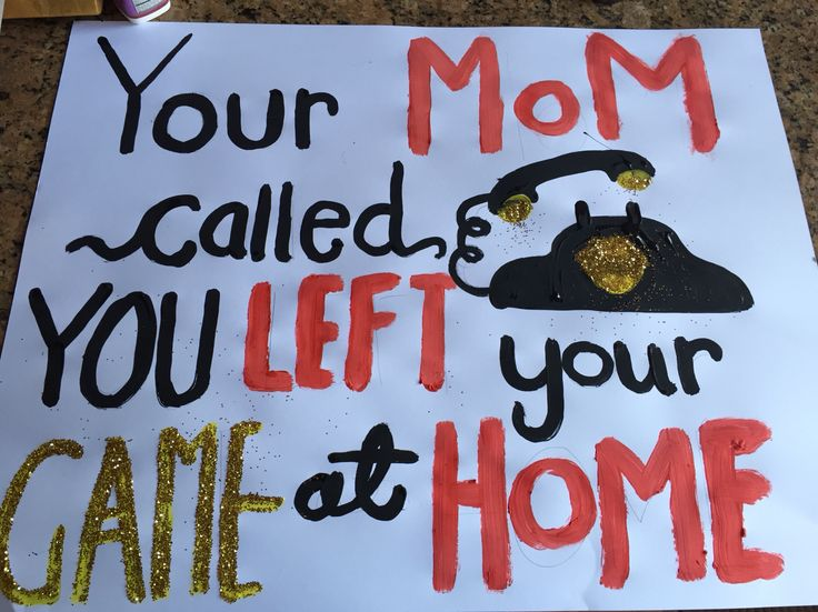 You're mom called you left your game at home! High school football posters
