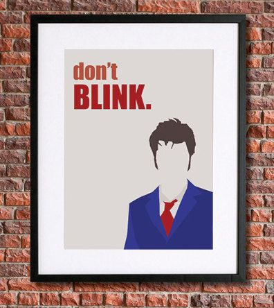 Doctor Who Poster Art |  8x10 | Tenth Doctor | Instant Download | by pennyPRINTABLE, $5.00